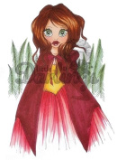 Little Darlings Fairytales and fables Saturated Canary Unmounted Rubber Stamp Red Riding Hood