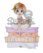 Saturated Canary Unmounted Rubber Stamp 11cm x 8.3cm -Princess Peanelope