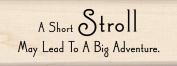 Inkadinkadoo Adventure Quote Wood Stamp