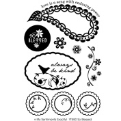 My Sentiments Exactly Clear Stamp Y-So Blessed