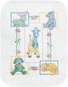 """Dimensions Baby Hugs """"Baby's Friends"""" Quilt Stamped Cross Stitch Kit, 90cm x 110cm"""