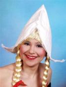 Cone Shaped Dutch Girl White Hat Fancy Dress Costume
