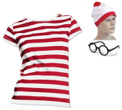 Where's Lady in a Crowd Wally Style Tshirt, Hat, Glasses
