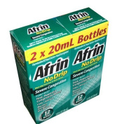 Afrin No Drip Severe Congestion Pump Mist Nasal Spray 12 Hour relief 20 mL Bottle