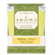 Aroma Naturals Ambiance Square Glass Candle, Orange and Lemongrass, 200ml