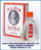Siang Pure Peppermint Menthol Oil Aroma Relieve Dizziness White Formula 3 Cc. Made in Thailand