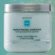 Biotone Marine Therapy Pedicure Scrub 650ml Jar with Rejuvenating Complex of Lavender, Litsea & Pepperment - For Feet and Massage