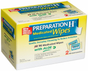 PREPARATION H Medicated Hemorrhoidal Wipes with Witch Hazel, Multicolor, 96 ct