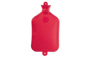 Warm Tradition X-Large 2.5 Litre Rubber Hot Water Bottle in Red- Made in Germany