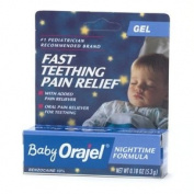 Orajel Nighttime Teething Pain Relief Gel, Cherry, 5ml