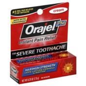 Orajel Oral Pain Reliever, Maximum Strength, for Severe Toothache, Cream 5ml