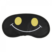 Black Yellow Cartoon Eyes Protector Sleeping Mask Eyeshade 2 Pcs