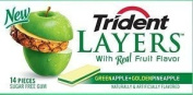 Trident Layers Gum Apple & Pineapple, Size