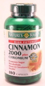 Nature'S Bounty High Potency Cinnamon 2000 Plus Chromium 180 Capsules Per Bottle
