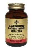 Solgar L-Arginine/L-Ornithine 500/250 mg Vegetable Capsules