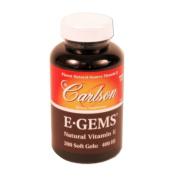 Carlson Labs E-Gems Natural Vitamin E, 400 IU