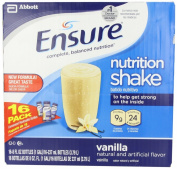 Ensure Bottles, Vanilla Shake , 240ml Bottles, 16 Count