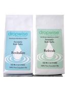 Dropwise Essentials Aromatherapy Bath Salt 2-Packs Made with 100% Pure Essential Oils & Epsom Salt