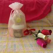 Foaming Bath Salts and Flower Soap Gift Set