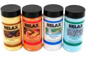Original Aromatherapy Bath Crystals -Pack of 4, 500ml- All Natural Mineral Salts - Aroma Therapy For Hot Tubs, Spas & Jacuzzi