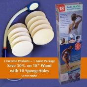 "46cm Semi-flex Body-Reach+ Bendable ""Unbreakable"" Lotion Applicator includes"