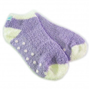 Bath Accessories Socks Essential Moisture with Jojoba and Lavender Oils, Purple