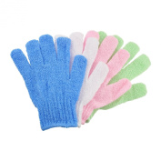 Body Scrub - One of the Best Skin Exfoliation Products - Exfoliating Gloves (4 Per Pack) - Loofah or Bath Mitt Provides Great Body Polish and Spa Like Treatments - This Exfoliator Is Great for Body Treatments and Will Get Rid of All Dead Skin Cells