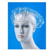 16 Clear Shower Caps Bath Hat Hair Lady Waterproof Reusable Spa Elastic Salon !!