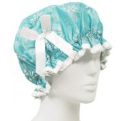 Kella Milla Stylish Satin Shower Cap - Aqua Floral