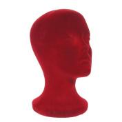 A1Pacific 28cm BURGUNDY Velvet STYROFOAM FOAM MANNEQUIN MANIKIN head wig display hat glasses