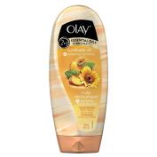 Olay 2-In-1 Essential Oils Ribbons Sunflower Oil + Refreshing Nectarine Moisturising Body Wash 530ml
