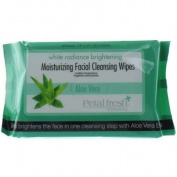 Petal Fresh White Radiance Brightening Moisturising Facial Cleansing Wipes, Aloe Vera, 470ml