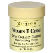 Genes Vitamin E Creme Swiss Collagen Complex Moisturising Creme for Dry and Sensitive Skin 470ml