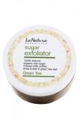 Green Tea Sugar Exfoliator with Coffee