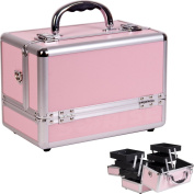 Makeup Case with 3-Tiers Expandable Trays Colour