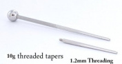 10g 1 inch Threaded Taper with 1.2mm Threading