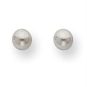 INVERNESS Palladium Plate 4mm Ball Piercing Earrings