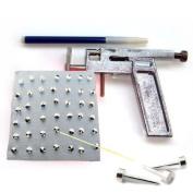 Steel Body Ear Piercing Gun Pierce Metal Kit Tool With 98 Free Studs New