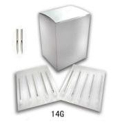 100 Pc Sterile 14 Gauge 14G disposable Body Ear Navel Nipple Piercing Needles supply