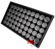 50 Jar Body Jewellery Display Tray Black Tongue Navel Lip