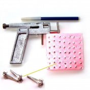 Wisedeal Ear Nose Navel Body Piercing Gun Tool Kit With Free 98 studs Professional set With a Wisedeal Keychain Gift