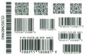 Tattoo Sticker Waterproof Black and White Models Barcode Tattoo