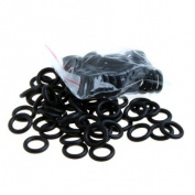 TOMTOP 100 Pcs Black Shockproof Rubber O-rings for Tattoo Machine
