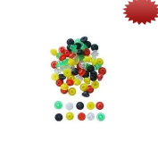Coloured Tattoo Grommets 100 Piece Bag
