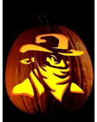 Pumpkin Carving Tattoo Pattern Cowboy Bandit