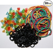 100pcs Tattoo Grommets Needle Pad + 100pcs Rubber Band +100pcs O-Ring