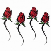 Tribal Red Roses Temporary Tattoo Body Art