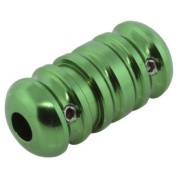 GREEN 1.9cm Aluminium Wholesale Tattoo Grips #1 - Ribbed, Light Weight
