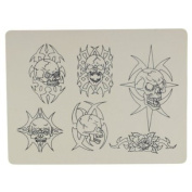 Skulls Flash - Synthetic Tattoo Practise Skin - Apprentice Tattoo Practise Skin