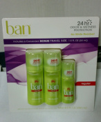 Ban Unscented Roll On Antiperspirant Deoderant 24 Hour Protection Two 100ml Roll Ons Plus Bonus 45ml Roll on